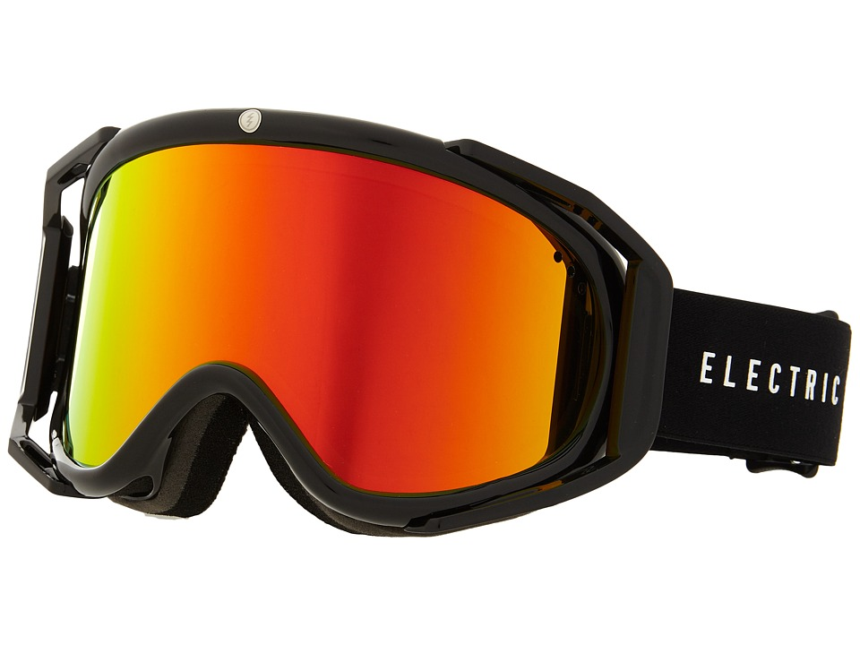 Electric Eyewear - RIG Gloss Black +Bonus Lens (Bronze/Red Chrome) Snow Goggles