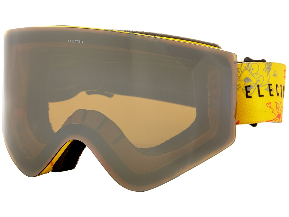 Electric Eyewear - EGX Cartoon Yellow +Bonus Lens (Bronze/Silver Chrome) Snow Goggles