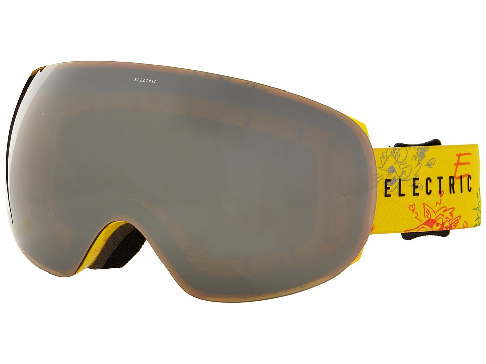 Electric Eyewear - EG3 Cartoon Yellow +Bonus Lens (Bronze/Silver Chrome) Snow Goggles