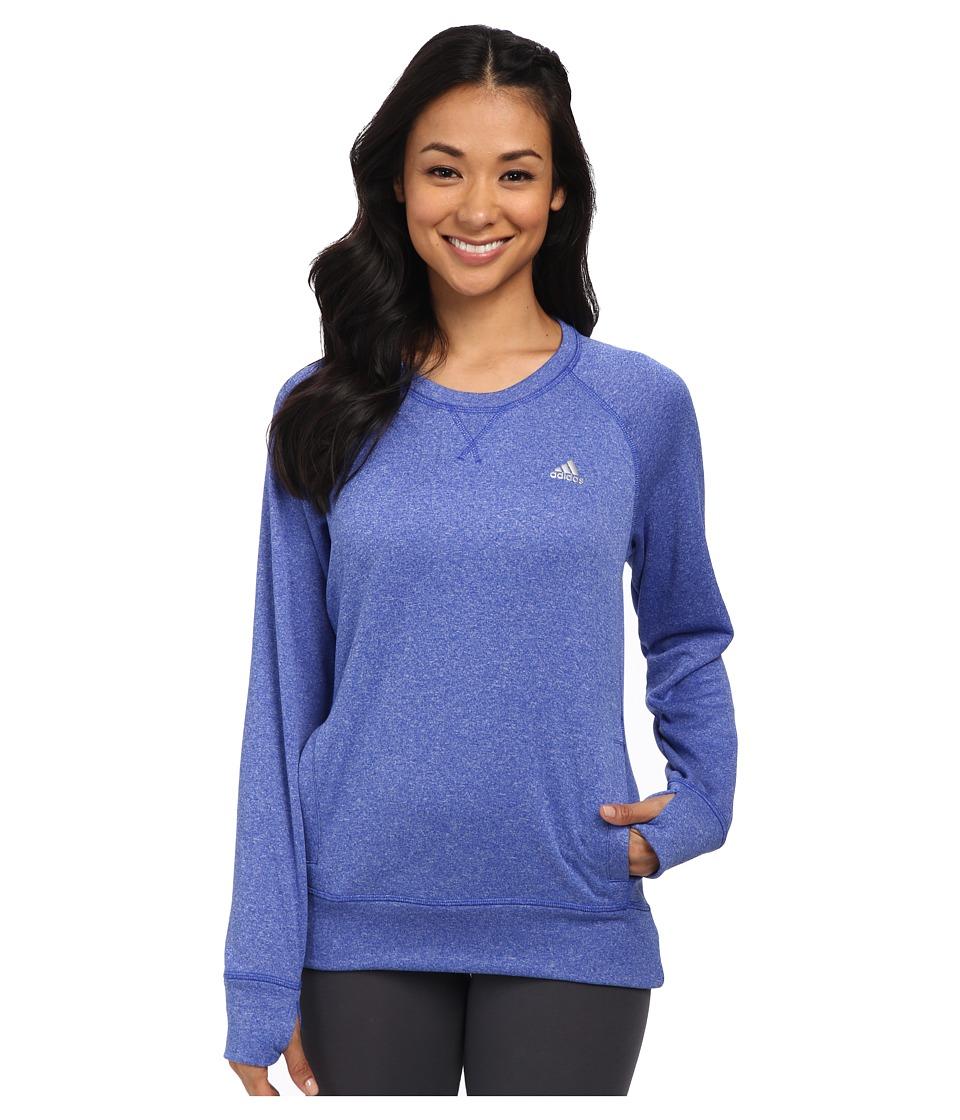 adidas - Ultimate Fleece Crew (Bold Blue/Flash Red) Women