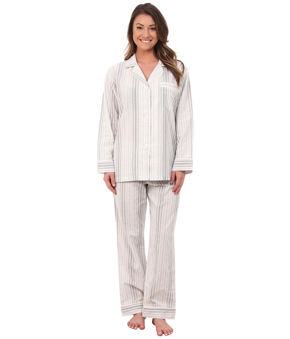 BedHead - Long Sleeve Classic PJ Set (Five Shades Of Grey) Women's Pajama Sets