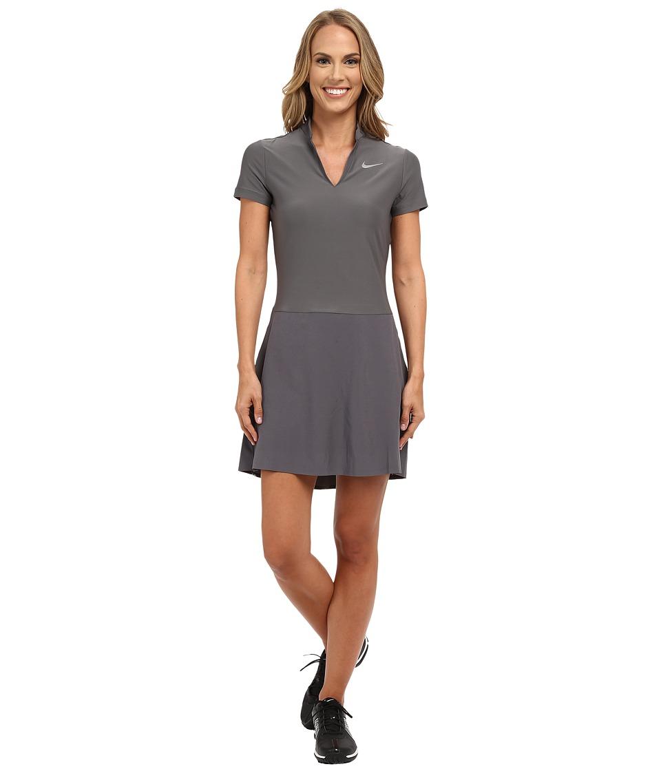 Nike Golf Ace Dress (Dark Grey/Black/Reflective Silver) Women