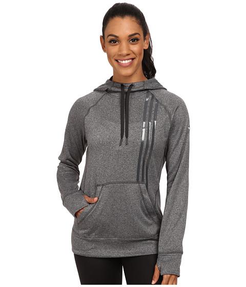adidas - Ultimate Fleece 3-Stripes Pullover Hoodie (Dark Grey Heather Solid Grey/Black) Women