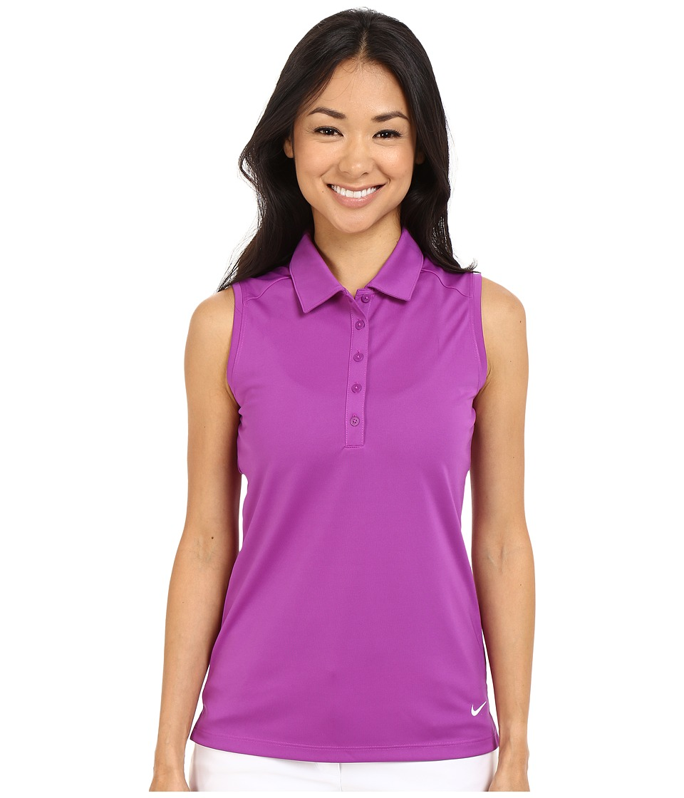 Nike Golf - Victory Solid Sleeveless Polo (Cosmic Purple/White) Women's Sleeveless