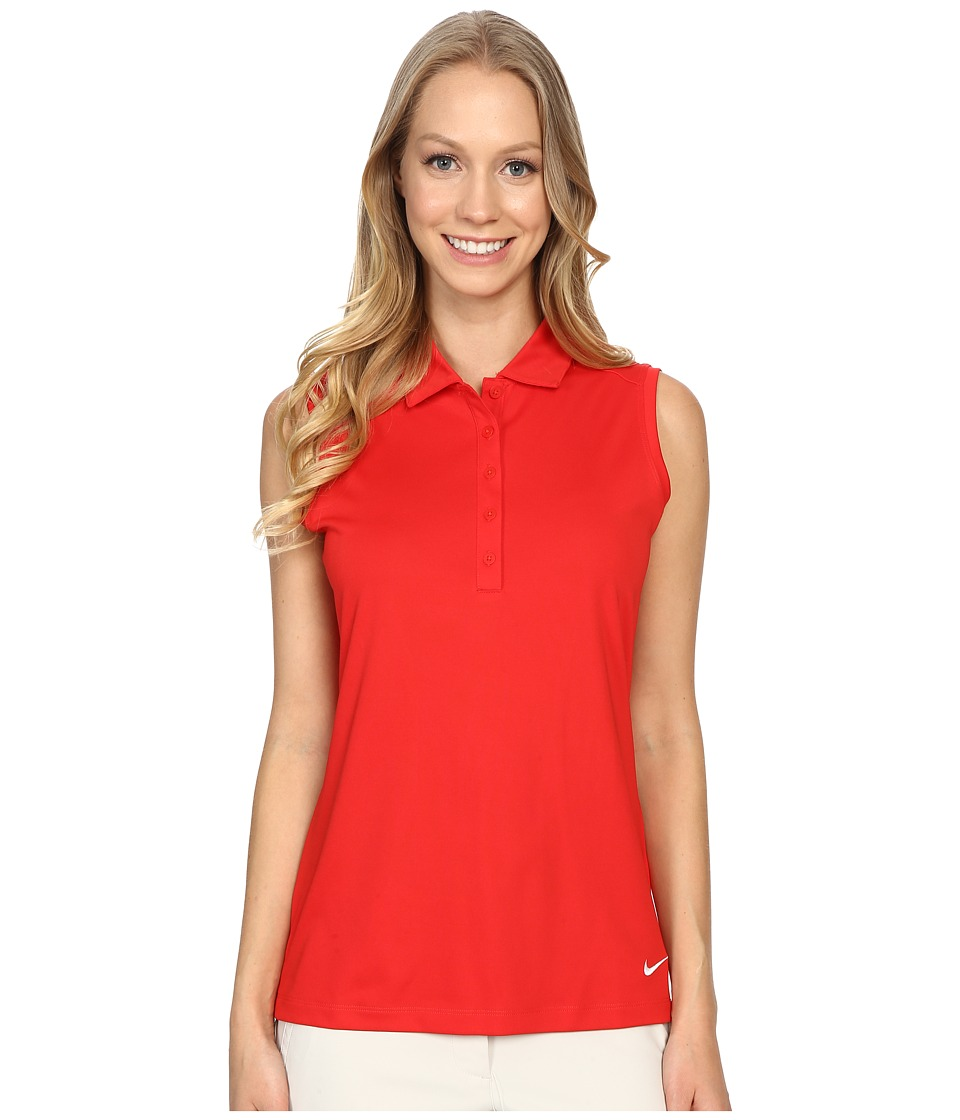 Nike Golf - Victory Solid Sleeveless Polo (University Red/White) Women's Sleeveless