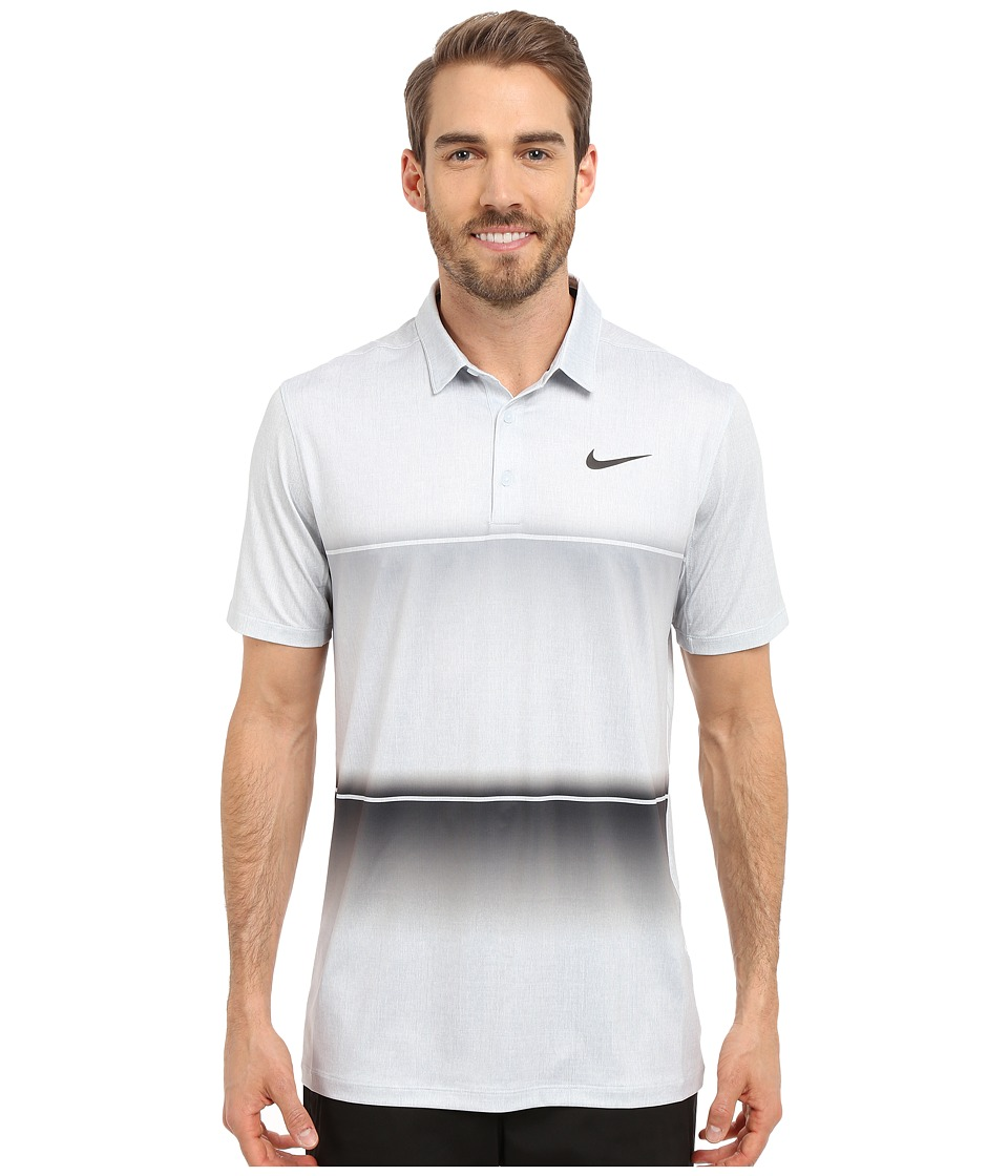 Nike Golf - Mobility Stripe Polo (Wolf Grey/Pure Platinum/Anthracite) Men's Short Sleeve Pullover