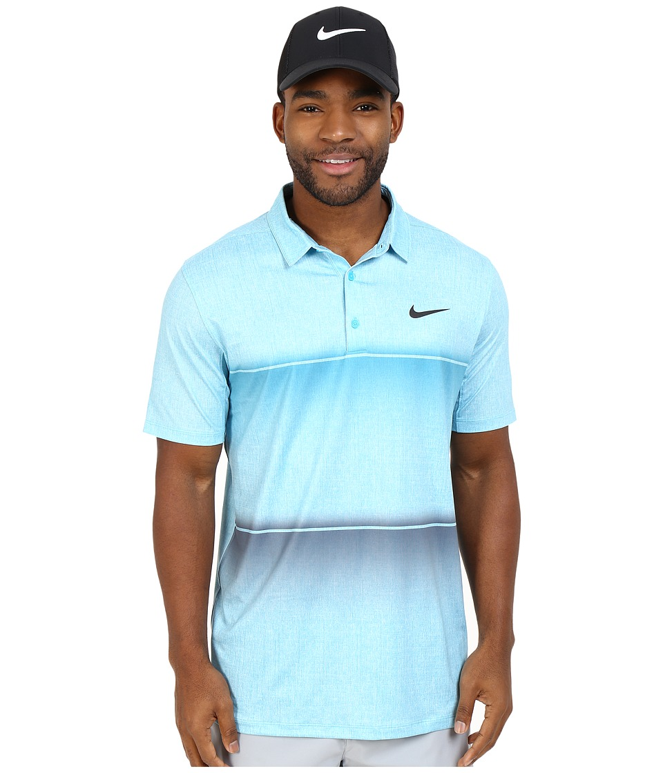Nike Golf - Mobility Stripe Polo (Omega Blue/Omega Blue/Anthracite) Men's Short Sleeve Pullover