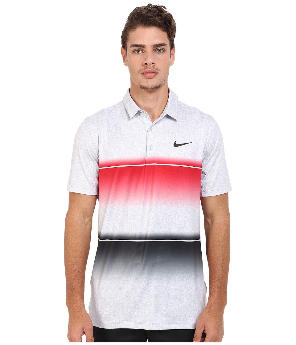 Nike Golf - Mobility Stripe Polo (University Red/Wolf Grey/Anthracite) Men's Short Sleeve Pullover