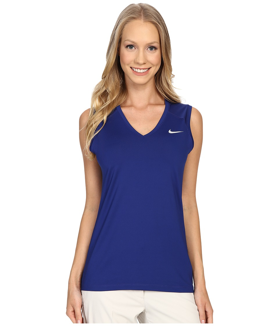 Nike Golf - Greens Sleeveless Top (Deep Royal Blue/Metallic Silver) Women's Sleeveless
