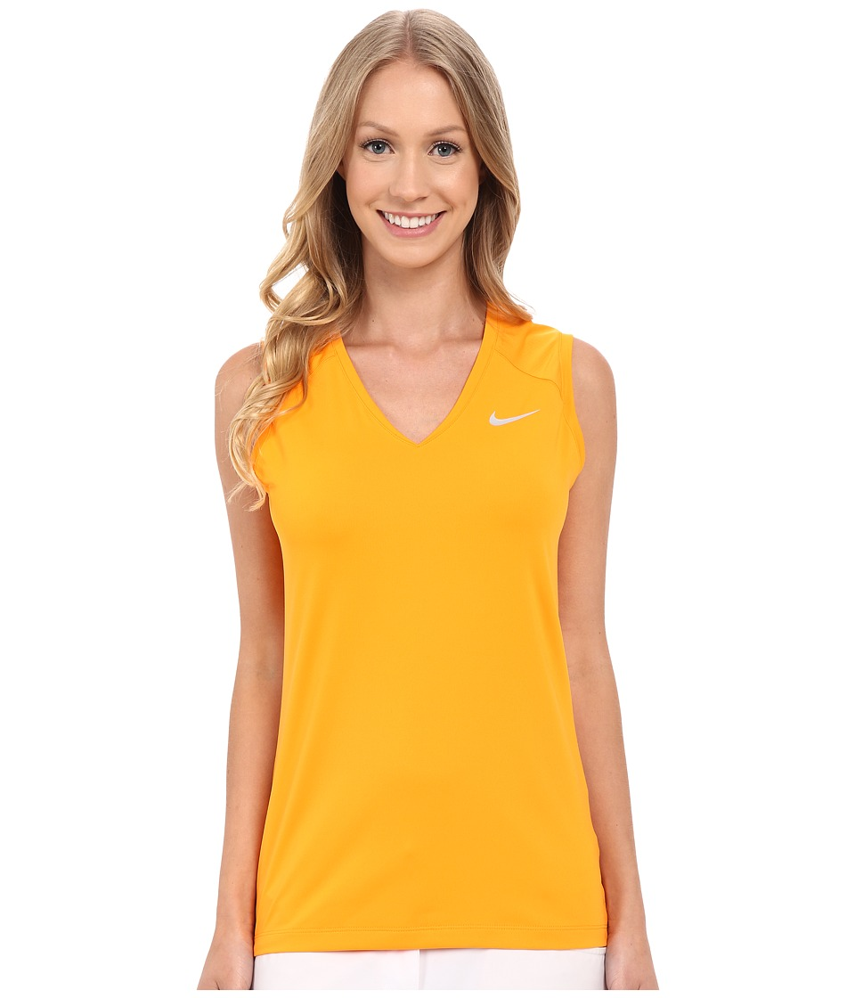 Nike Golf - Greens Sleeveless Top (Vivid Orange/Metallic Silver) Women's Sleeveless