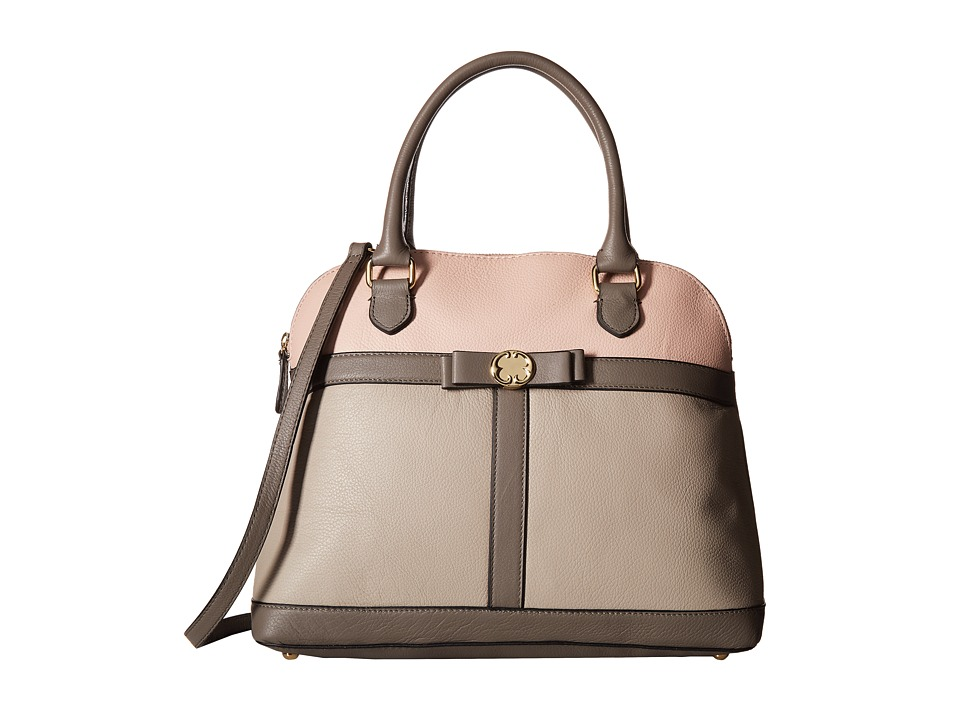 Emma Fox - Brenton Dome Satchel (Pebble/Blush/Mushroom) Satchel Handbags
