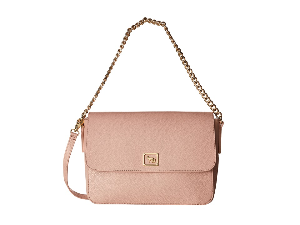 Emma Fox - Dales Pebble Chain Flap (Blush) Handbags