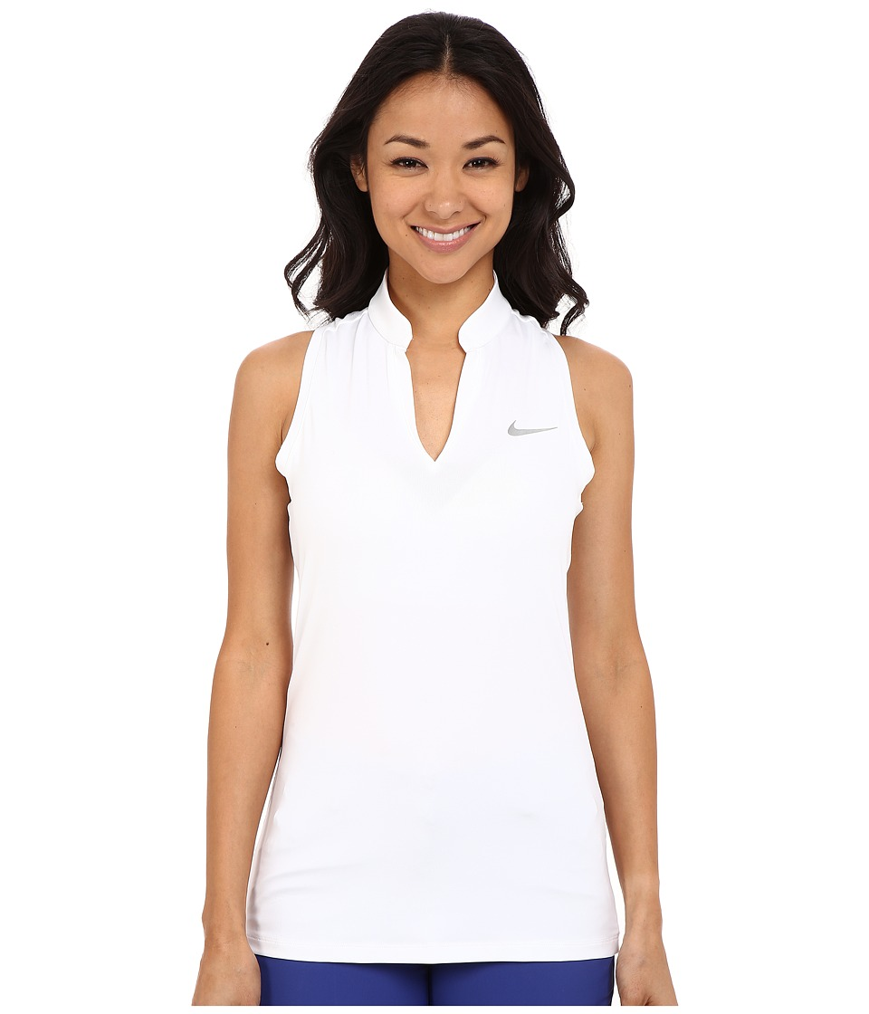 Nike Golf - Ace Melt Away Racerback (White/Reflective Silver) Women's Sleeveless