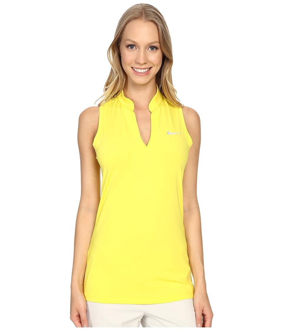 Nike Golf - Ace Melt Away Racerback (Optic Yellow/Reflective Silver) Women's Sleeveless