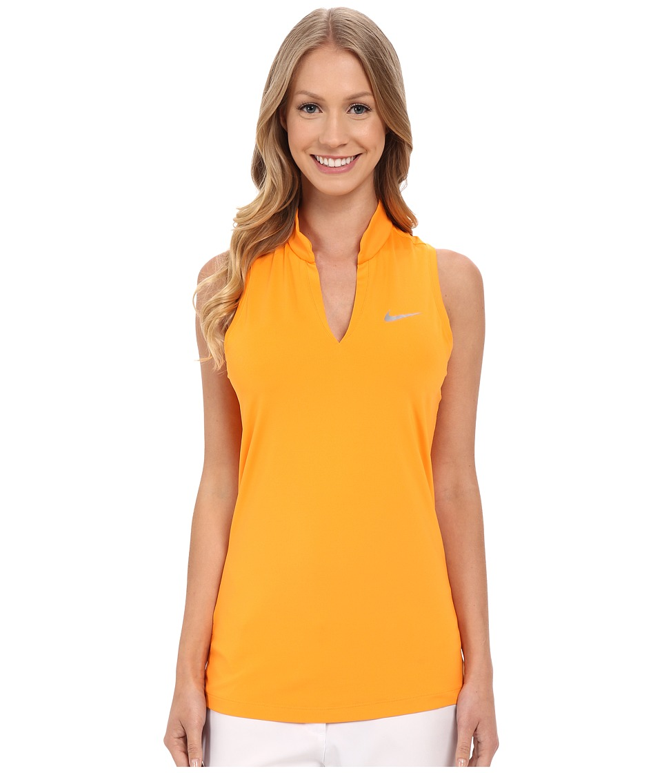 Nike Golf - Ace Melt Away Racerback (Vivid Orange/Reflective Silver) Women's Sleeveless