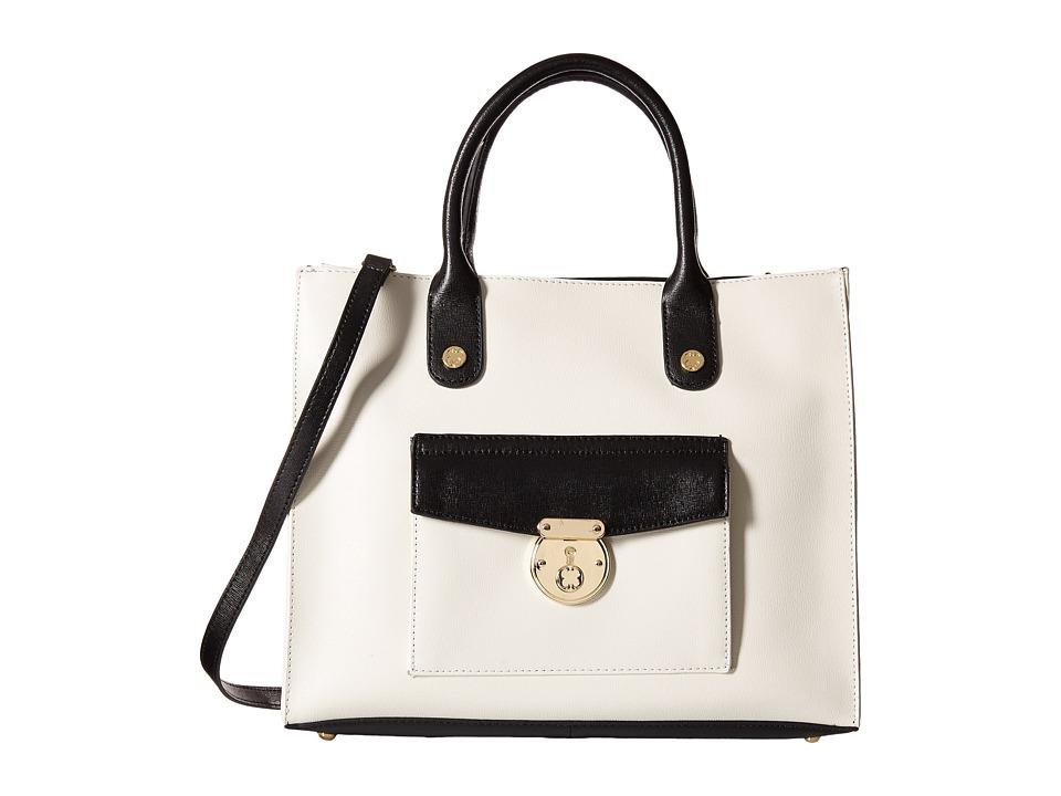 Emma Fox - Delmar Tote (White/Black) Tote Handbags