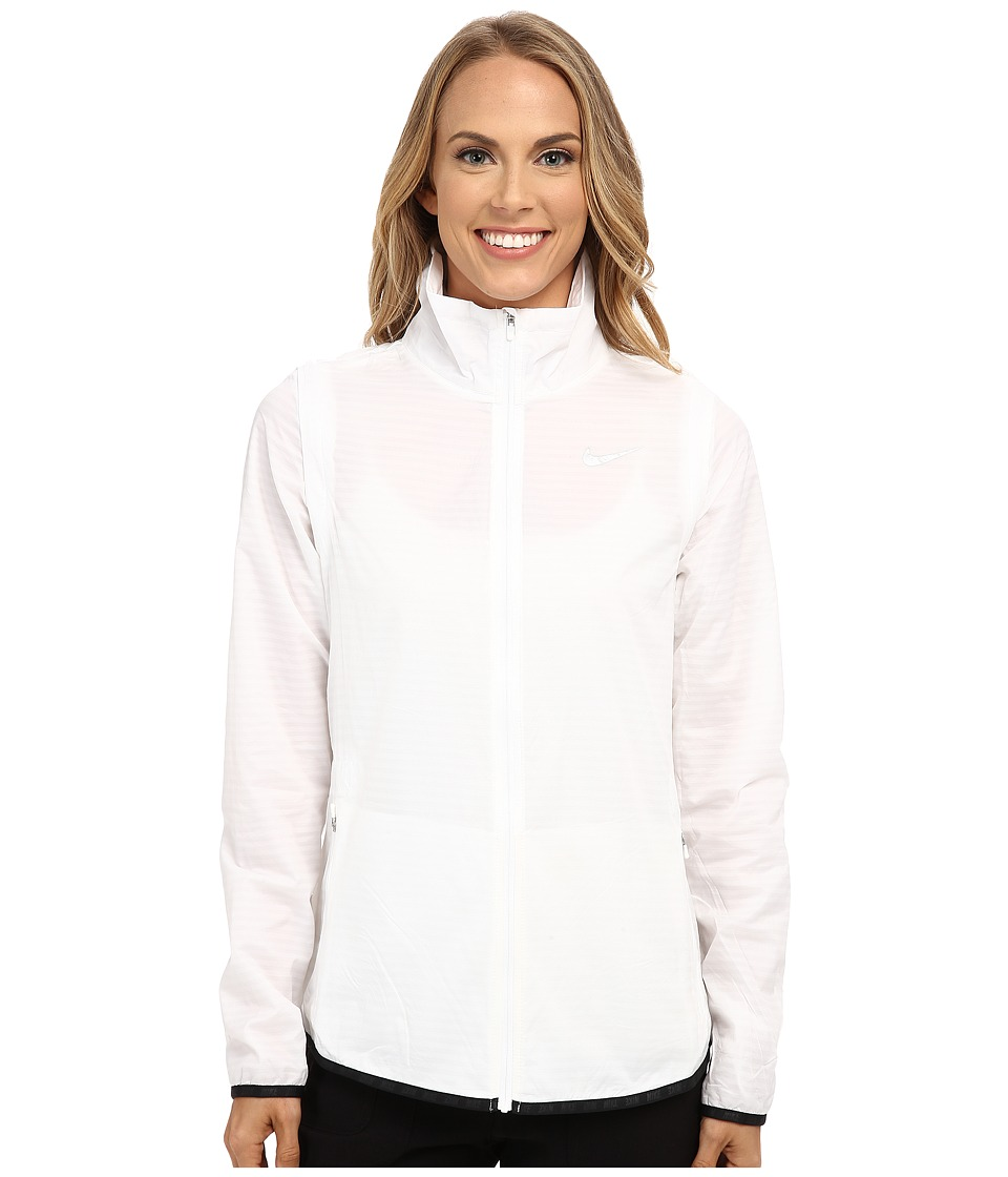 Nike Golf - Majors Convertible Jacket (White/Metallic Silver) Women's Coat