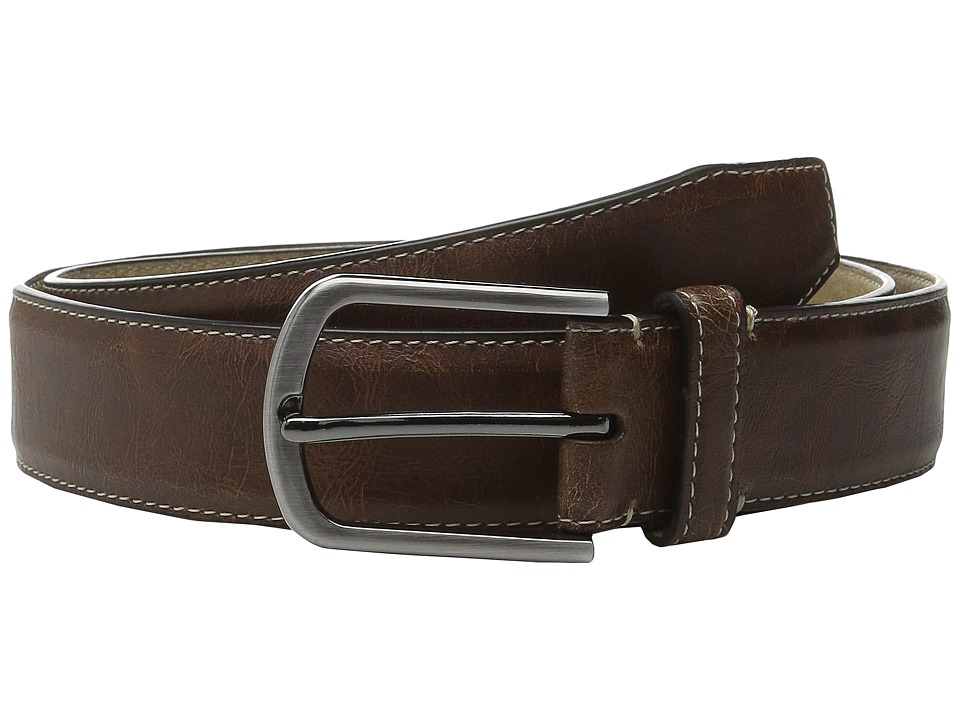 Steve Madden - 35mm Vintage Crackle Belt (Tan) Men's Belts