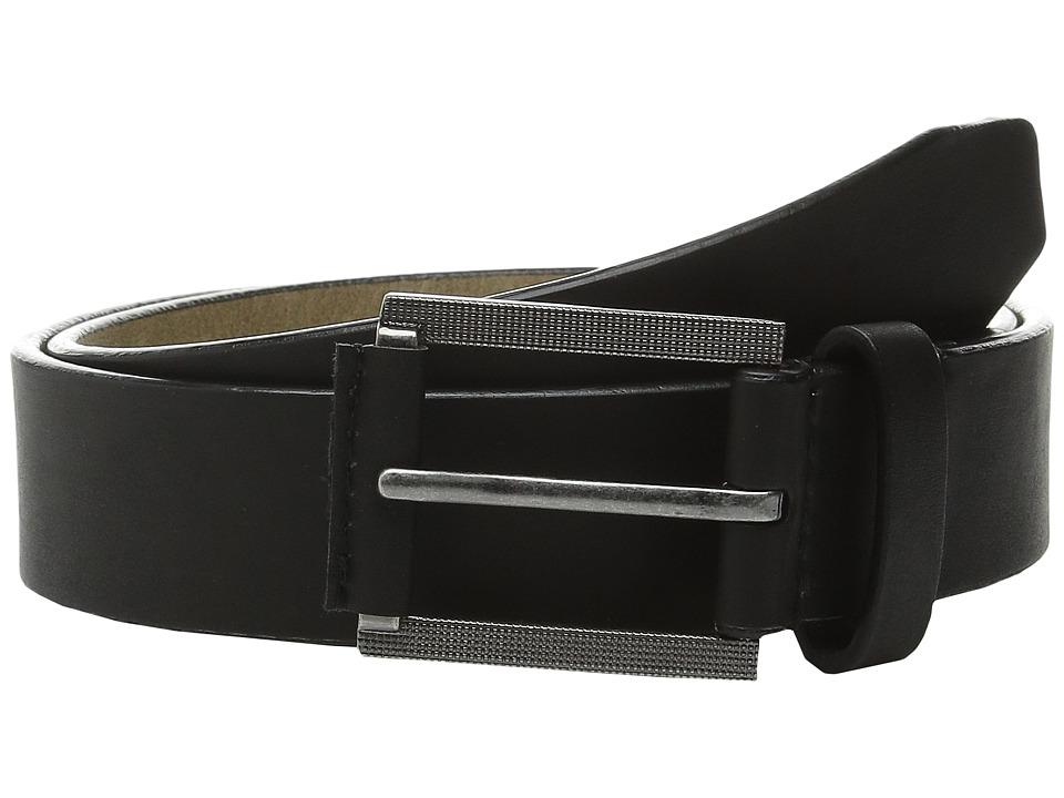 Steve Madden - 35mm Classic Belt (Black) Men's Belts