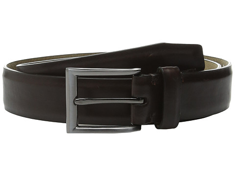 Steve Madden - 32mm Pull Up Dress Belt (Dark Brown) Men's Belts