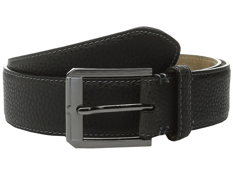 Steve Madden - 35mm Two-Tone Milled Belt (Brown) Men