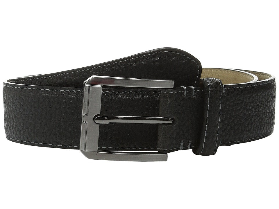 Steve Madden - 35mm Two-Tone Milled Belt (Grey) Men