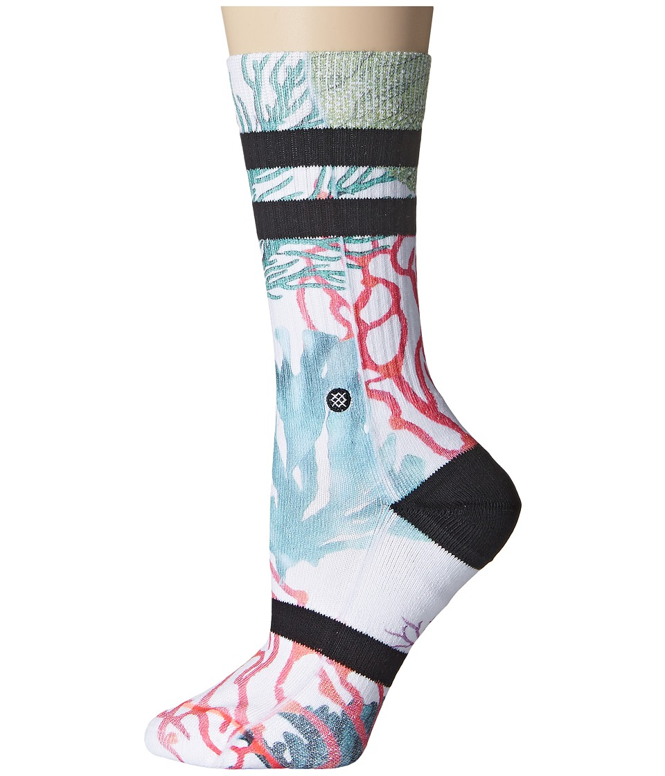 Stance - Triton Queen (White) Women's Crew Cut Socks Shoes