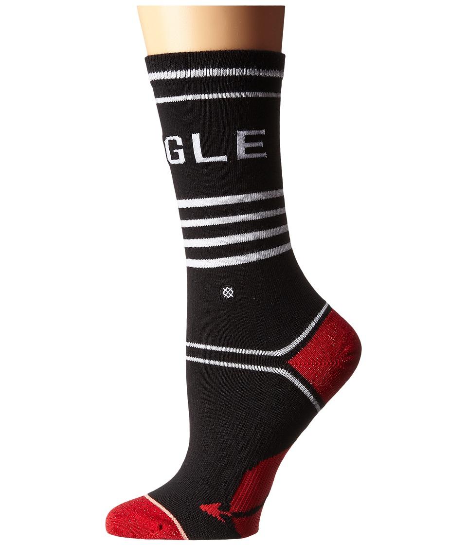 Stance - Single Mingle (Black) Women's Crew Cut Socks Shoes