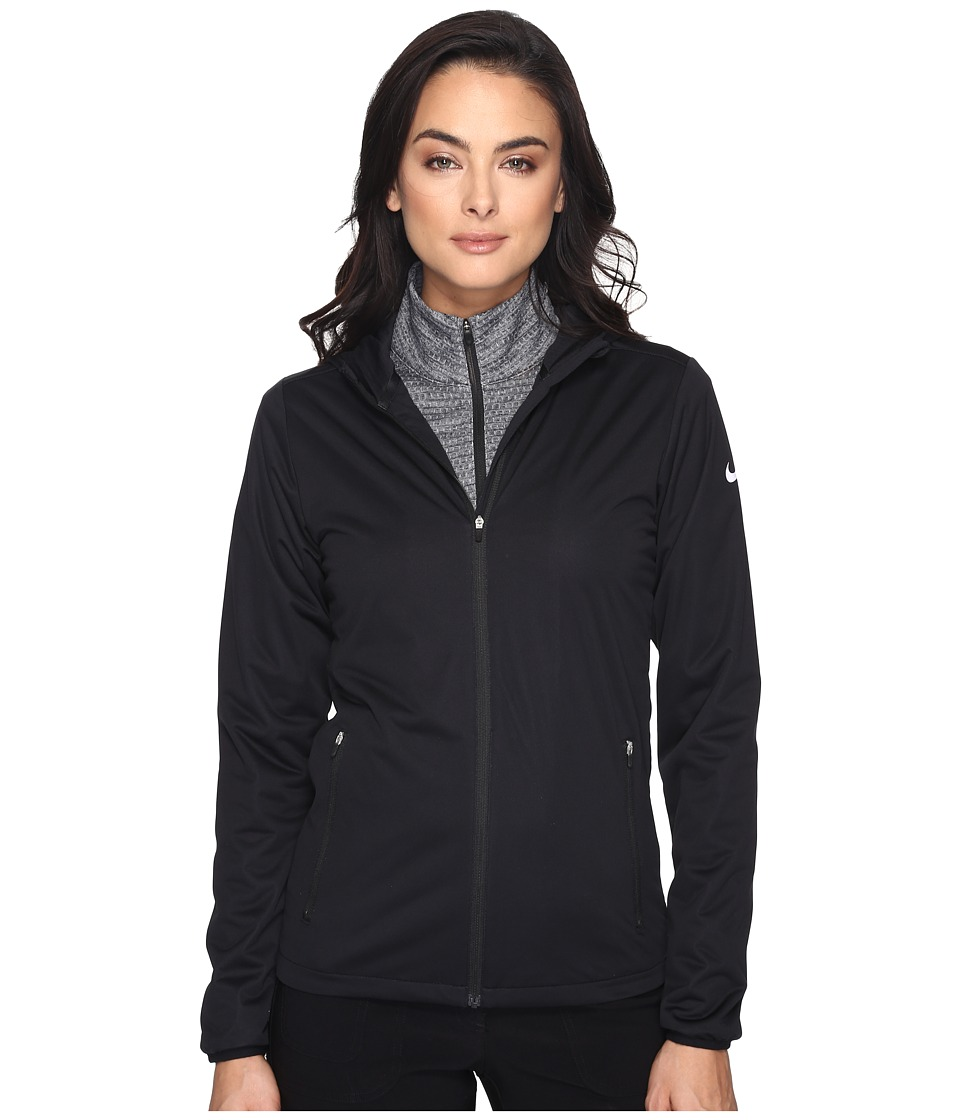 Nike Golf - Shield Wind Jacket (Black/White) Women's Coat