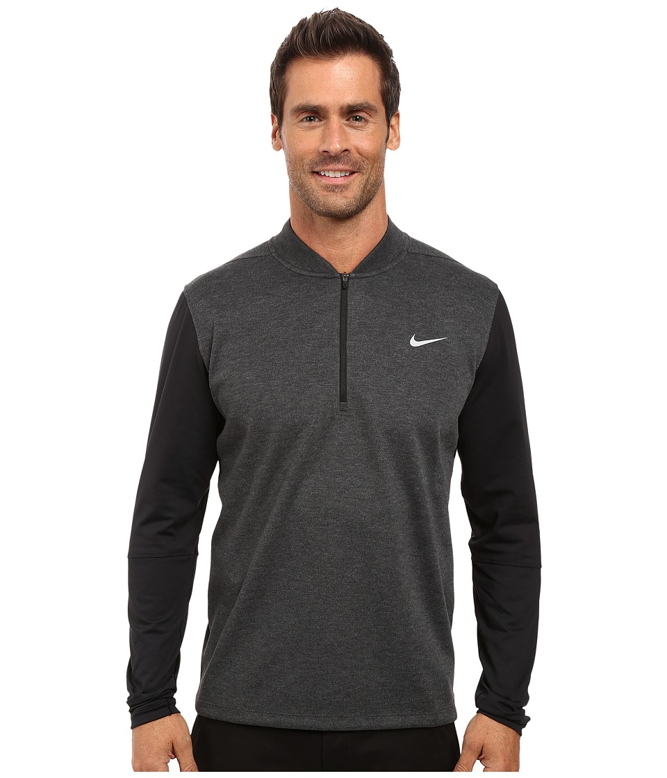 Nike Golf - Tiger Woods Sweater Tech 1/2 Zip (Black Heather/Black/Black/Reflective Silver) Men's Sweater