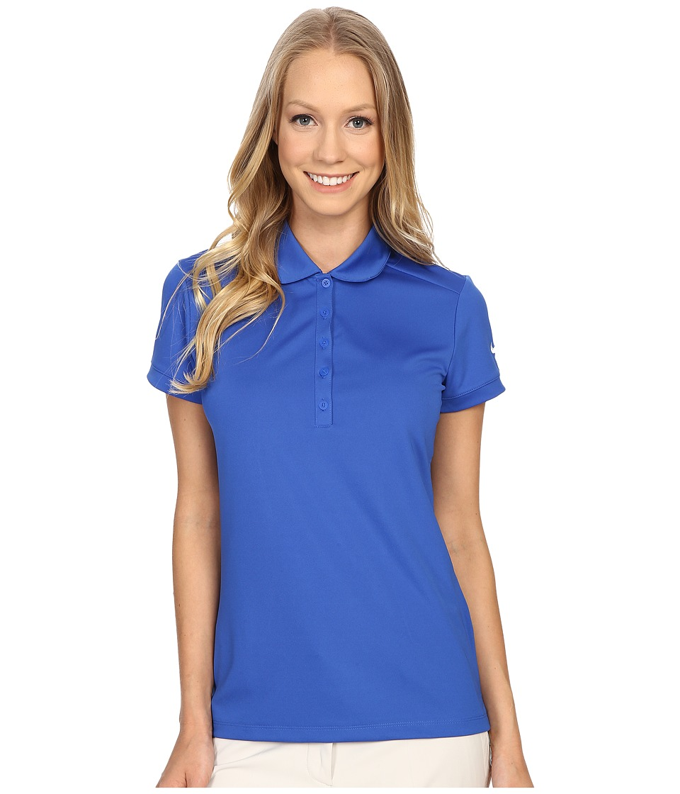 Nike Golf - Victory Solid Polo (Game Royal/White) Women's Short Sleeve Pullover