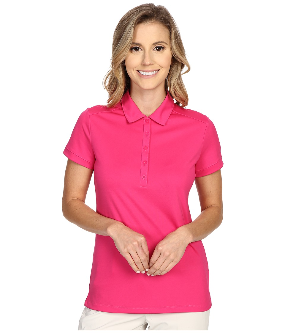 Nike Golf - Victory Solid Polo (Vivid Pink/White) Women's Short Sleeve Pullover