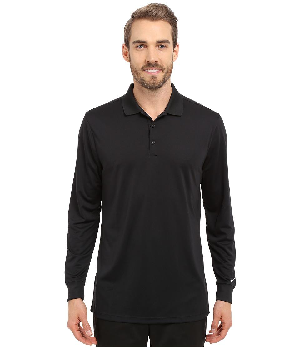 Nike Golf - Victory Long Sleeve Polo (Black/White) Men's Long Sleeve Pullover