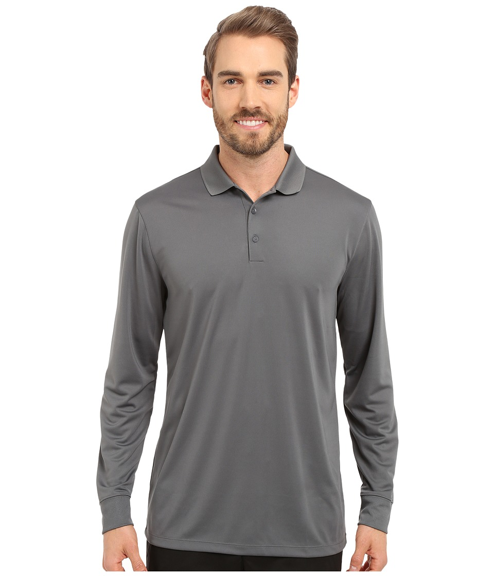 Nike Golf - Victory Long Sleeve Polo (Dark Grey/White) Men's Long Sleeve Pullover