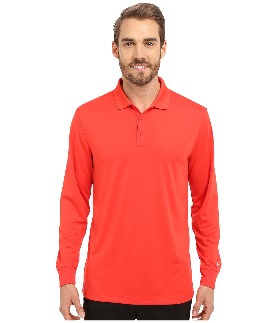 Nike Golf - Victory Long Sleeve Polo (Light Crimson/White) Men's Long Sleeve Pullover
