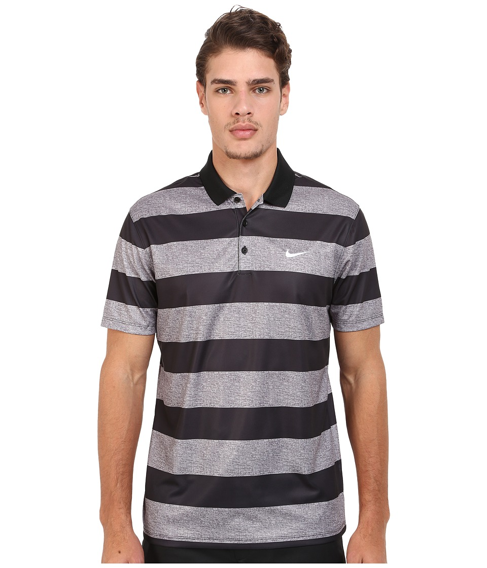 Nike - Victory Bold Stripe Polo (Dark Grey/Black/White) Men's Short Sleeve Pullover