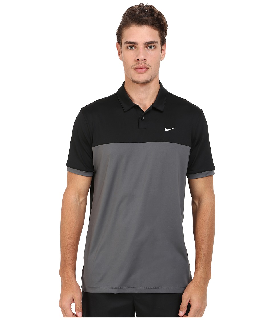 Nike - Icon Color Block Polo (Black/Dark Grey/White) Men's Short Sleeve Pullover