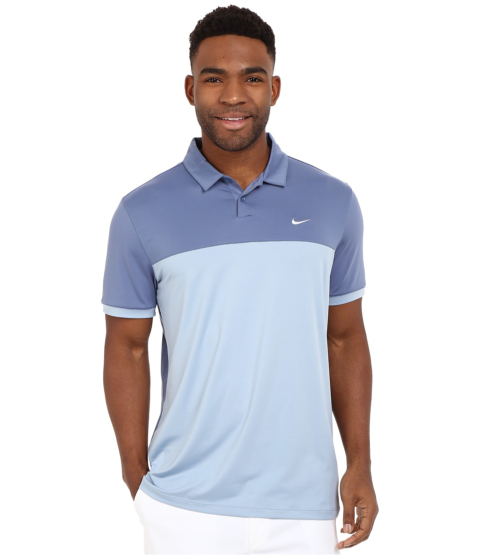 Nike Golf - Icon Color Block Polo (Ocean Fog/Blue/Grey/White) Men's Short Sleeve Pullover