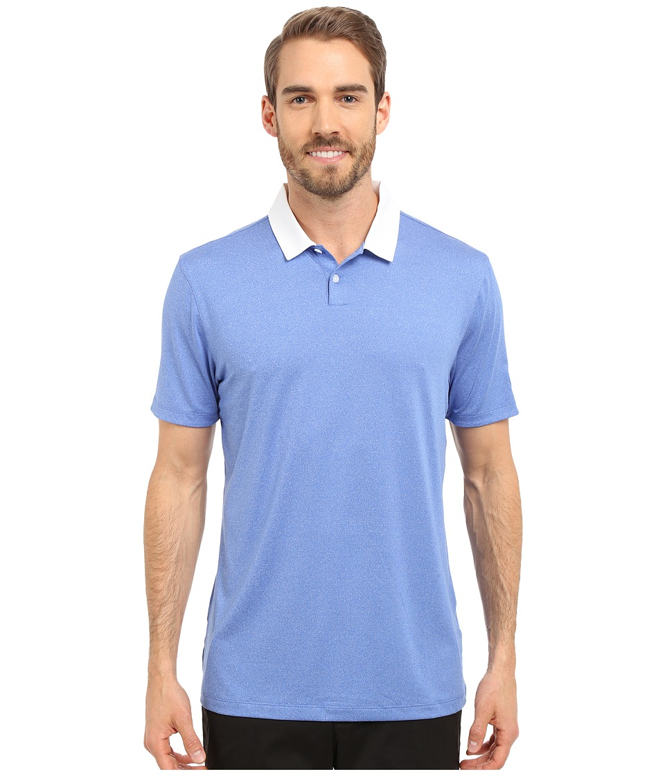 Nike Golf - Icon Heather Polo (Light Game Royal Heather/White) Men's Short Sleeve Pullover