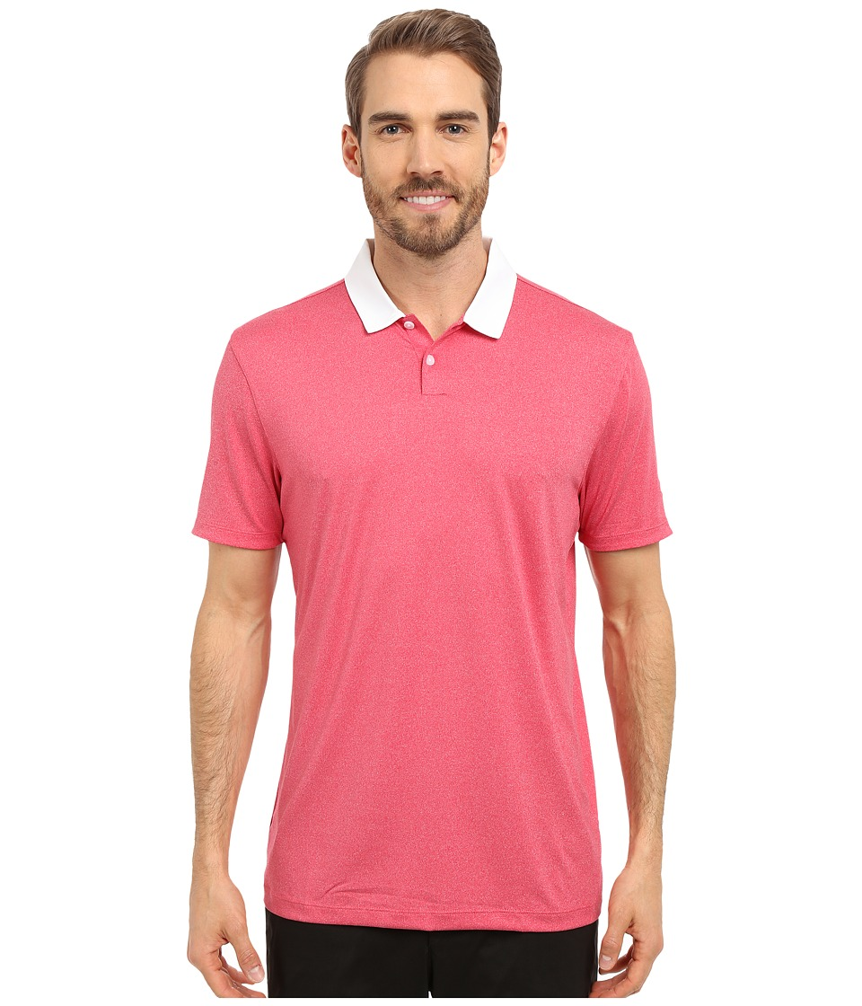 Nike Golf - Icon Heather Polo (Light University Red Heather/White) Men's Short Sleeve Pullover
