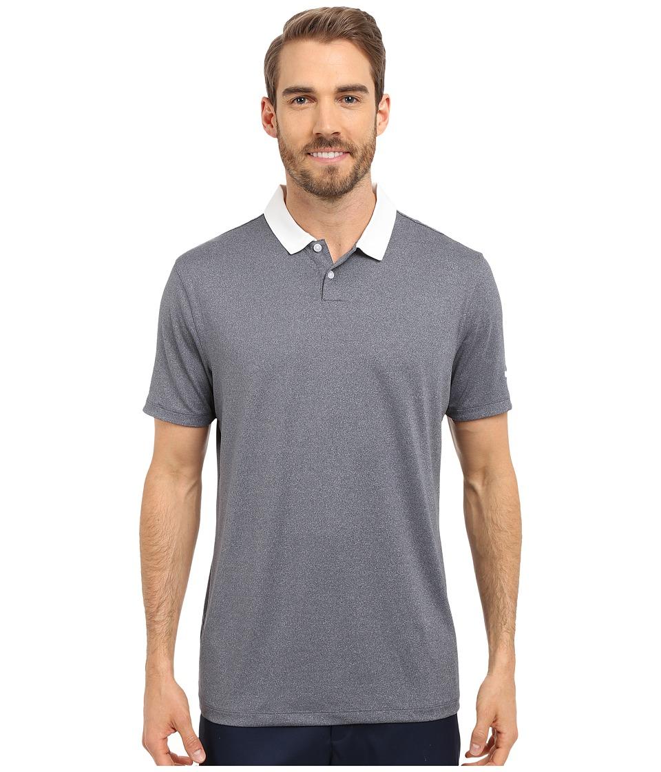 Nike Golf - Icon Heather Polo (Obsidian Heather/White) Men's Short Sleeve Pullover