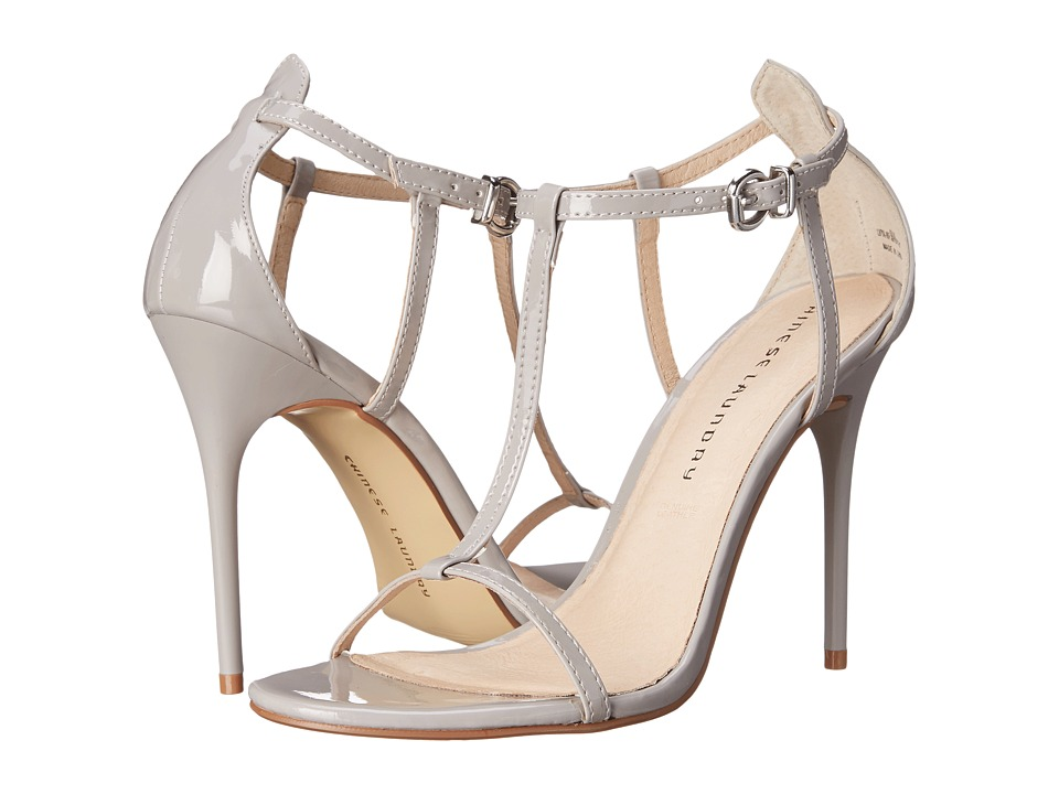 Chinese Laundry - Leo T Strap Sandal (Grey Patent) High Heels