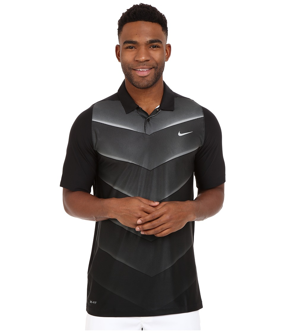 Nike Golf - Tiger Woods Velocity Hypercool Fade (Black/Wolf Grey/Black/Reflective Silver) Men's Short Sleeve Pullover