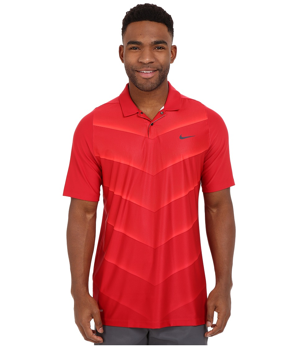 Nike Golf - Tiger Woods Velocity Hypercool Fade (Gym Red/Bright Crimson/Black/Reflect Black) Men's Short Sleeve Pullover