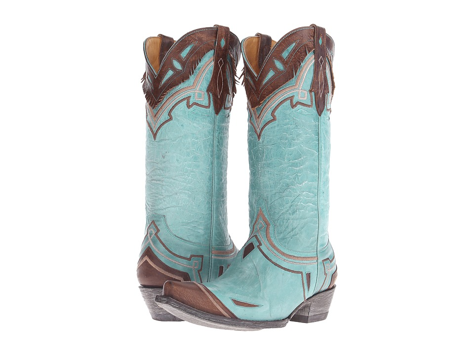 Old Gringo - Noseque (Blue/Brass) Cowboy Boots