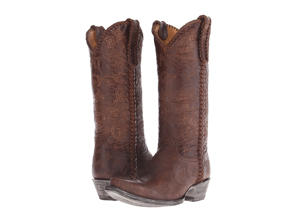 Old Gringo Branded (Brass) Cowboy Boots