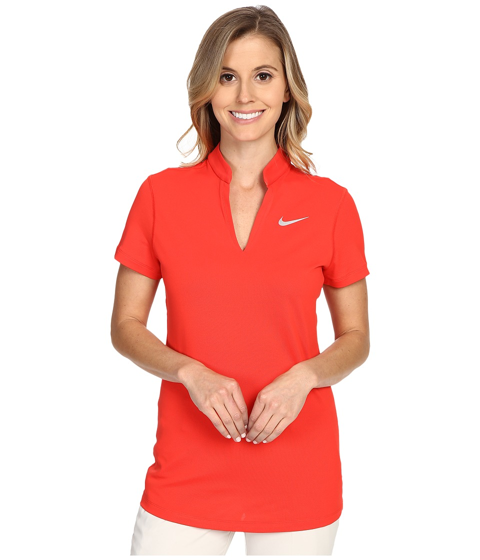 Nike Golf - Ace Pique Polo (Light Crimson/Reflective Silver) Women's Short Sleeve Pullover