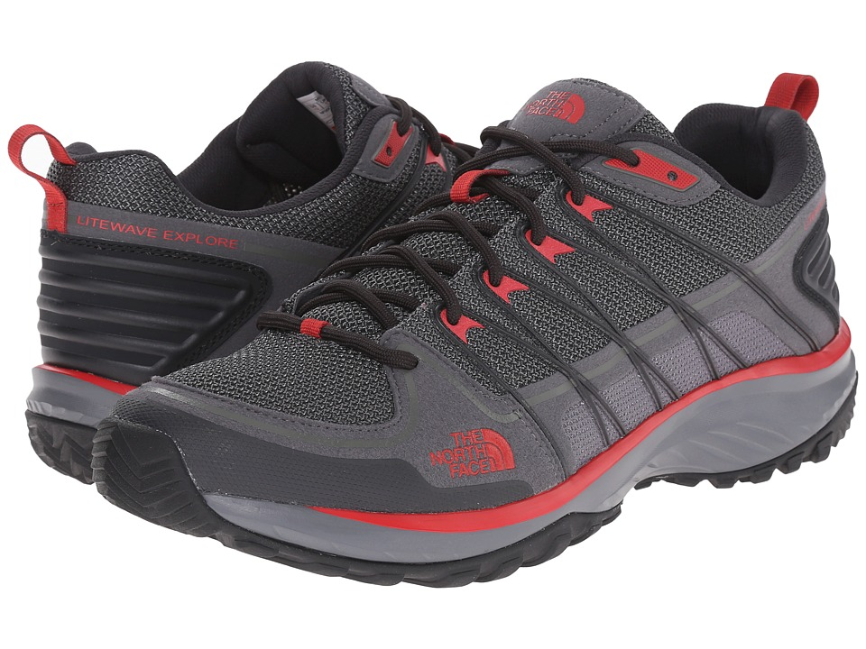The North Face Litewave Explore (Zinc Grey/Pompeian Red) Men