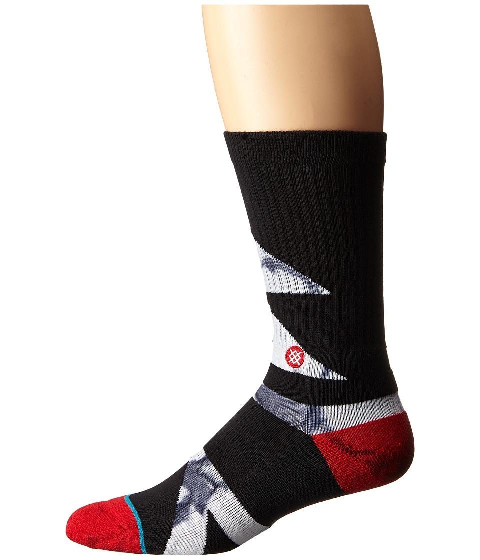 Stance - Electron (Black) Men's Crew Cut Socks Shoes