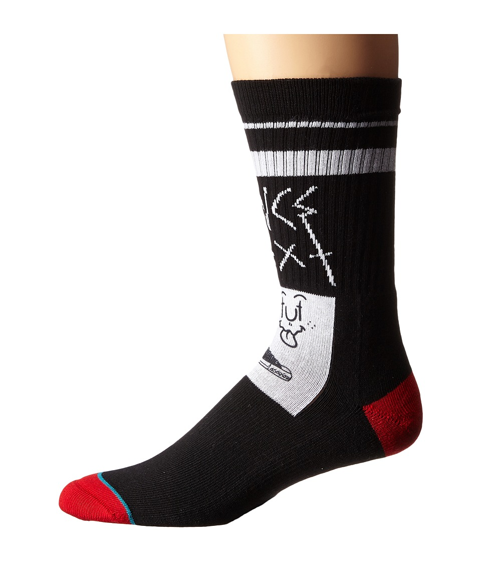 Stance - Flyer (Black) Men's Crew Cut Socks Shoes